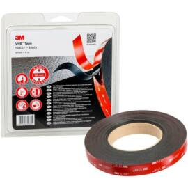 3M™ VHB™ 5962F akrilhab kétoldalas ragasztószalag, 1,6 mm vastag, fekete, 19 mm x 8 m