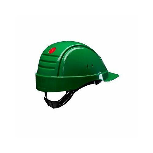 Védősisak Peltor 3M G2000NUV-GP zöld védősisak, szellőzőrésekkel, racsnis fejpánt, műanyag izzadságs
