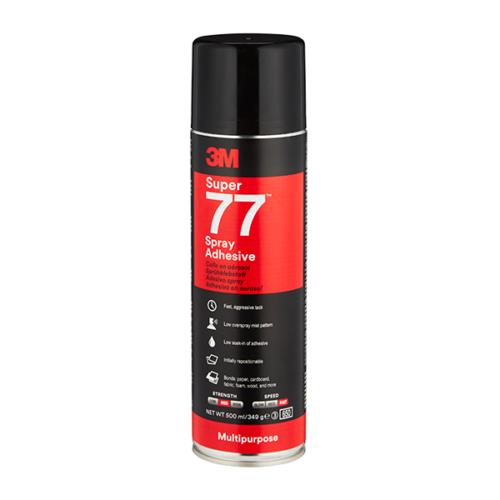 Ragasztóspray aeroszolos 3M Super 77 500 ml (349 gr)
